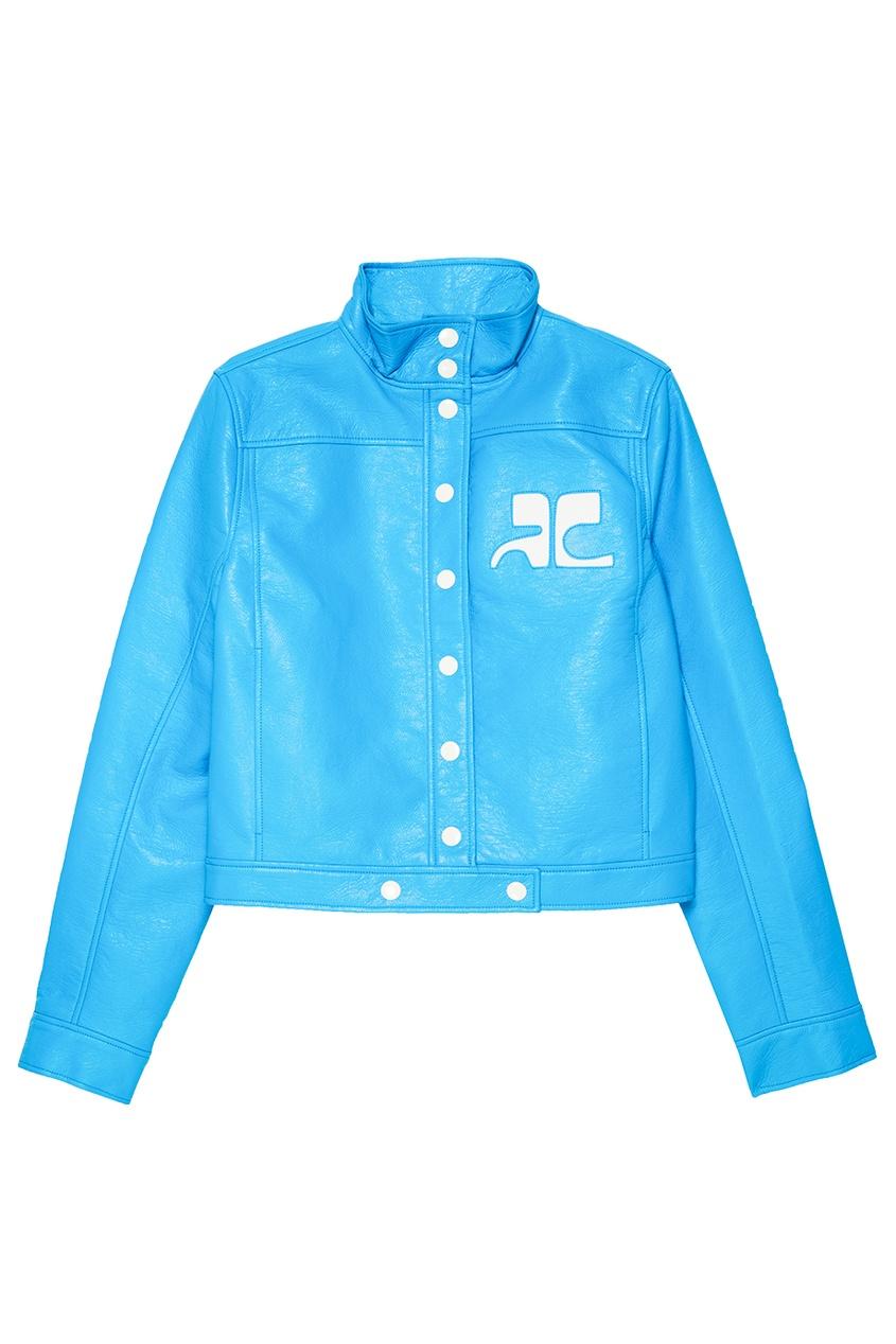 Голубая куртка из хлопка