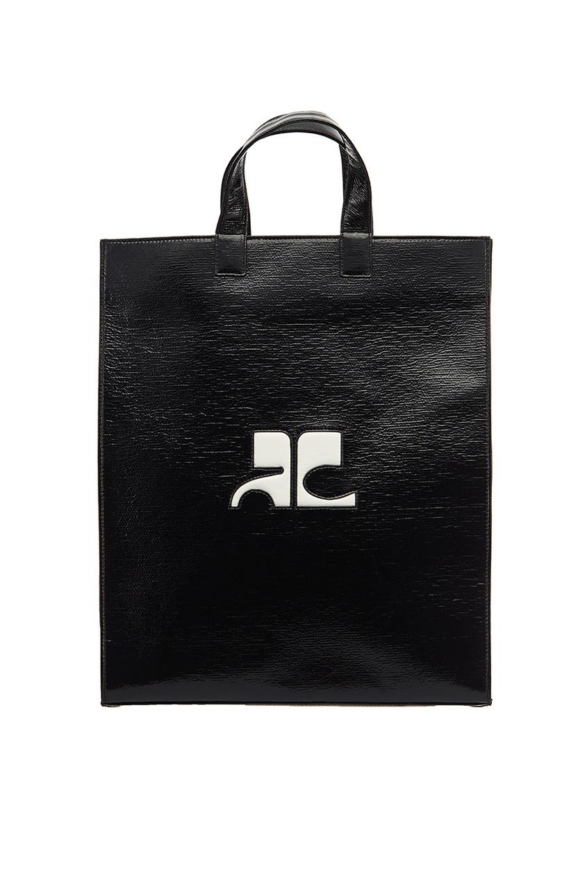 Courreges Черная сумка-тоут с монограммой сумка тоут grey oceans