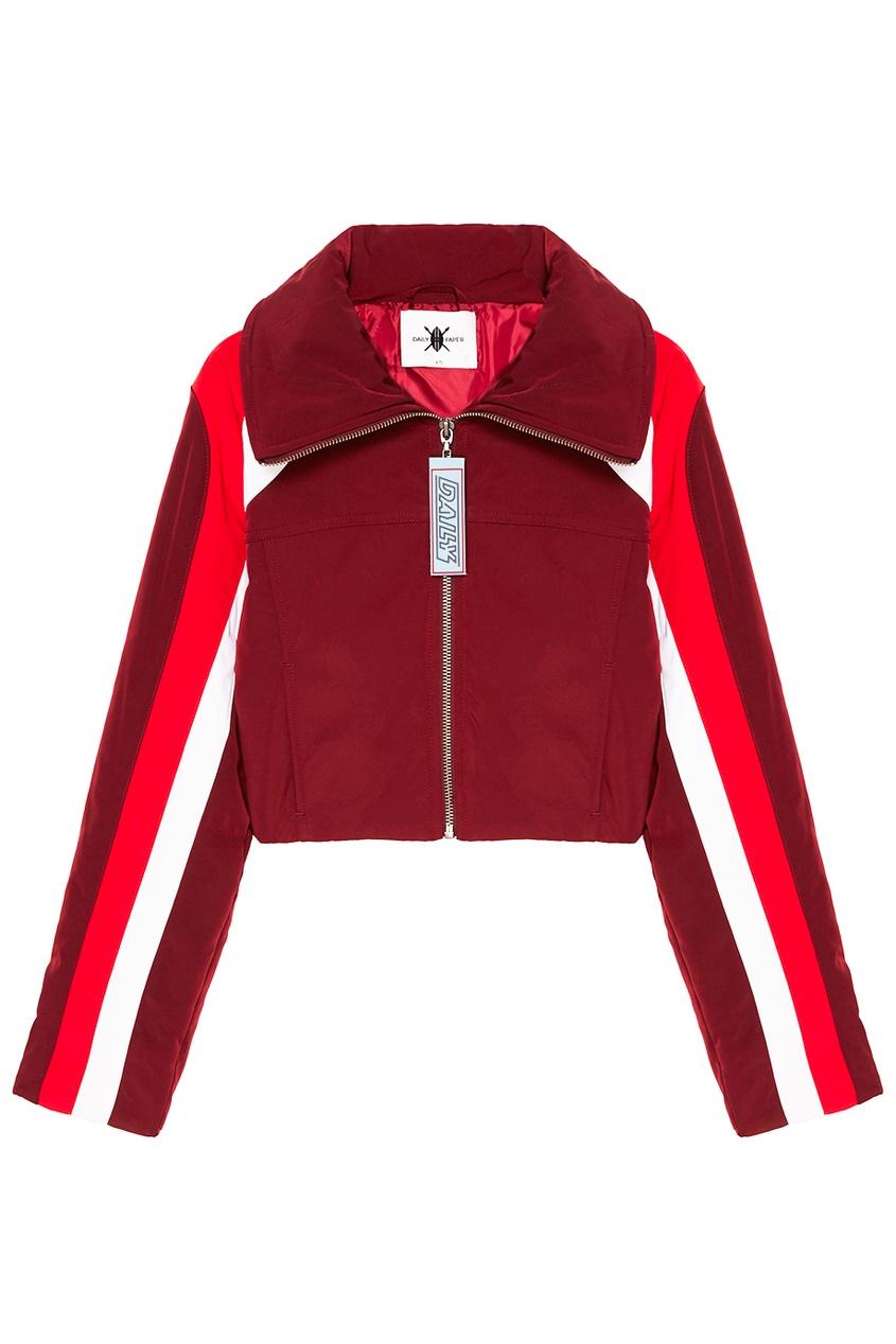 Daily Paper Бордовая куртка с полосками