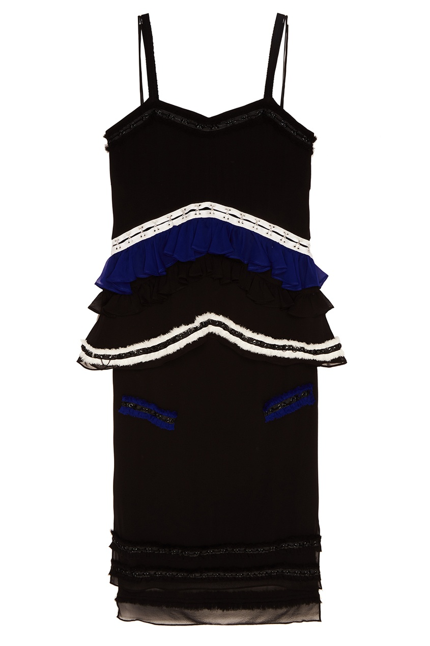 Proenza Schouler Шелковое платье с оборками chapurin шелковое платье с оборками