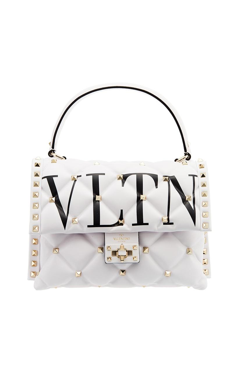 Белая стеганая сумка Candystud