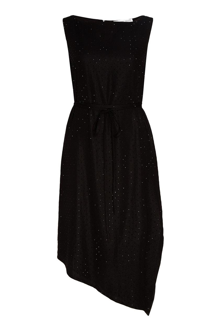 Alexander Terekhov Черное прямое платье с кристаллами alexander terekhov черное платье с пайетками