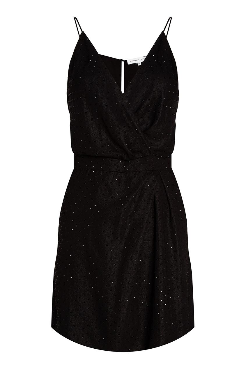 Alexander Terekhov Черное платье с кристаллами alexander terekhov черное платье с пайетками