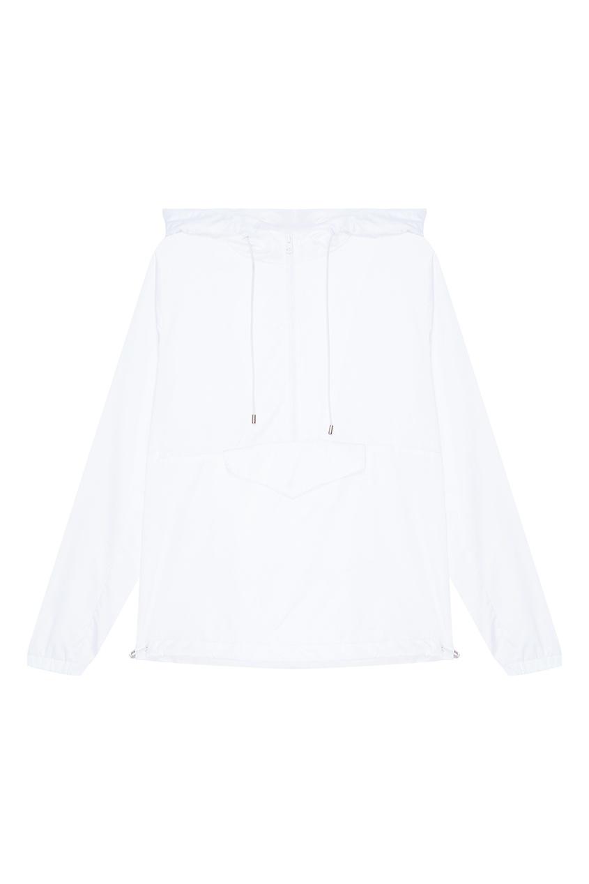 Белый анорак с карманом