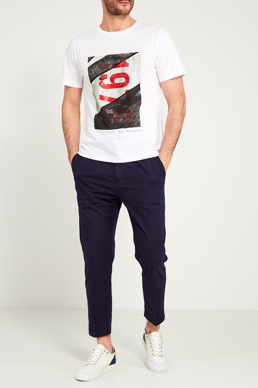 мужские брюки calvin klein, синие