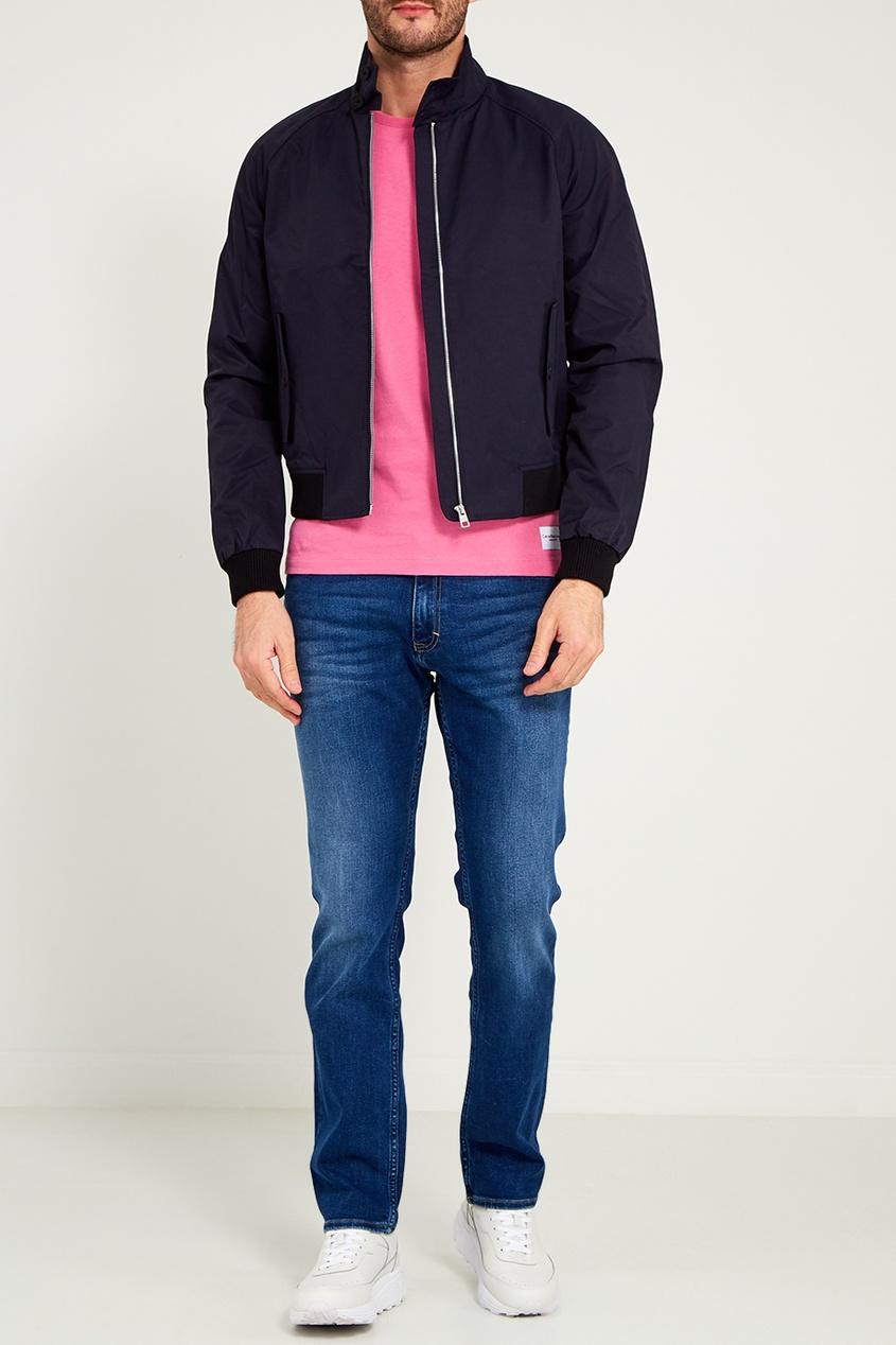 мужская футболка calvin klein, розовая