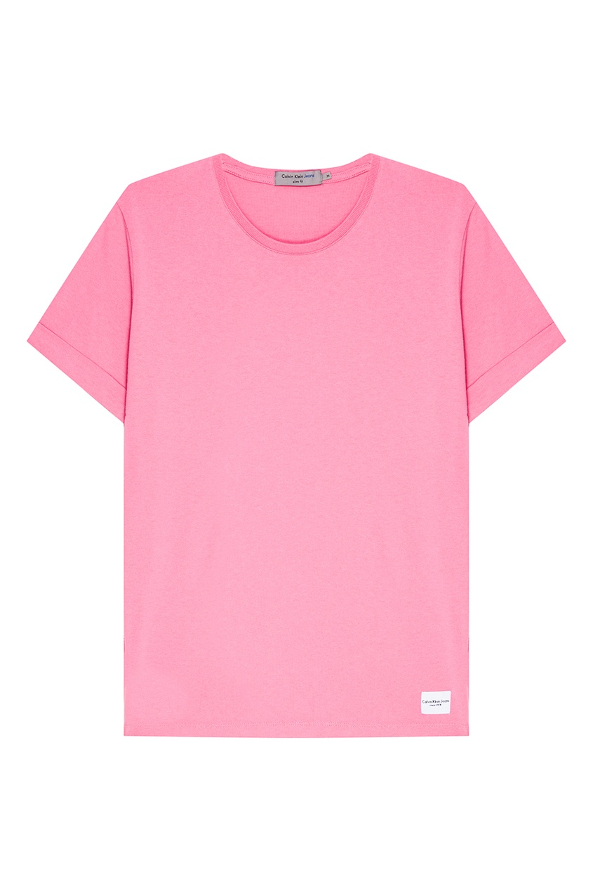 Calvin Klein Розовая футболка с отворотами футболка calvin klein