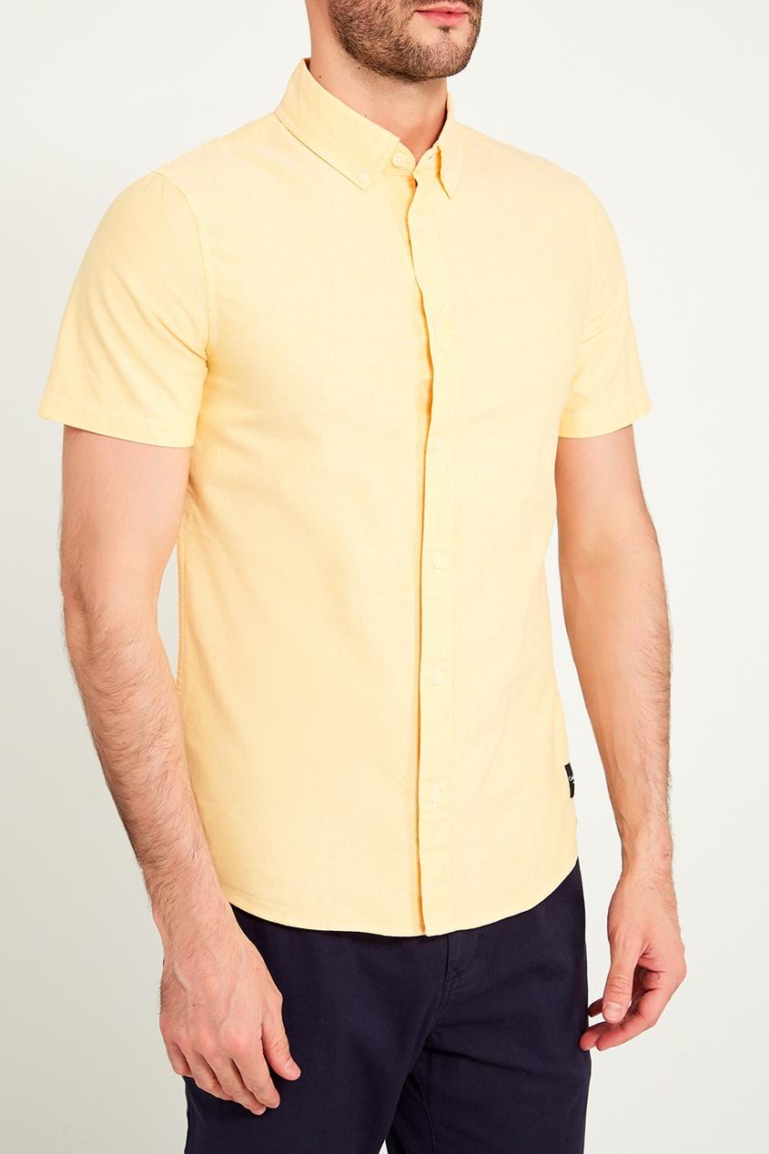 мужская рубашка calvin klein, желтая