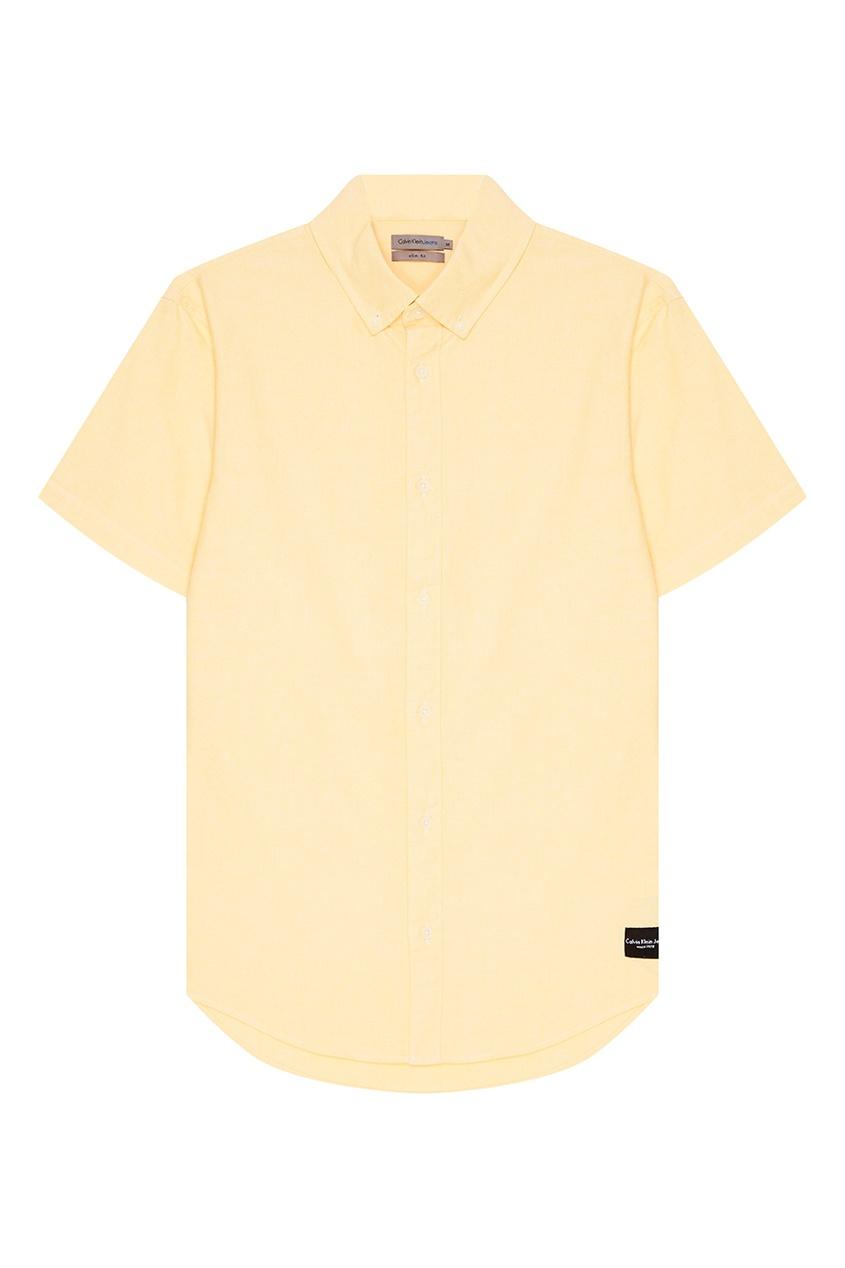 Calvin Klein Желтая рубашка с короткими рукавами franck muller часы franck muller 6000 h