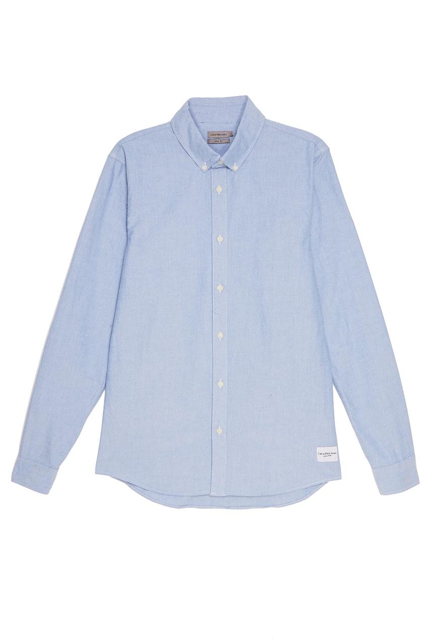 Calvin Klein Приталенная голубая рубашка рубашка john richmond рубашка