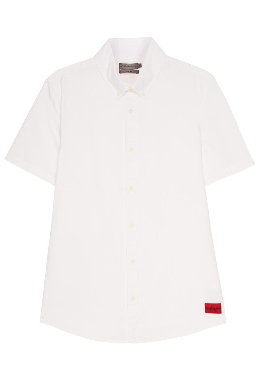 Calvin Klein Белая рубашка с короткими рукавами franck muller часы franck muller 6000 h