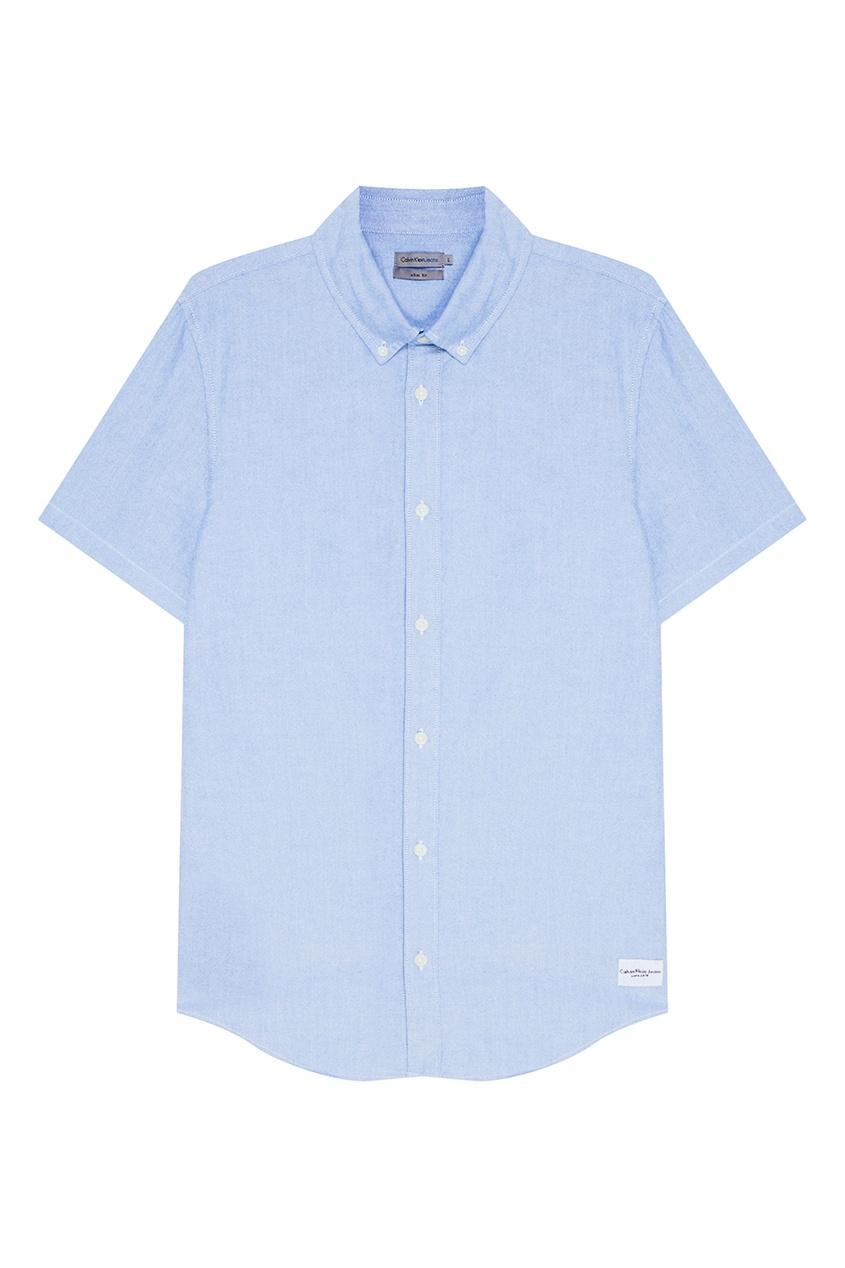 Calvin Klein Голубая рубашка с короткими рукавами franck muller часы franck muller 6000 h