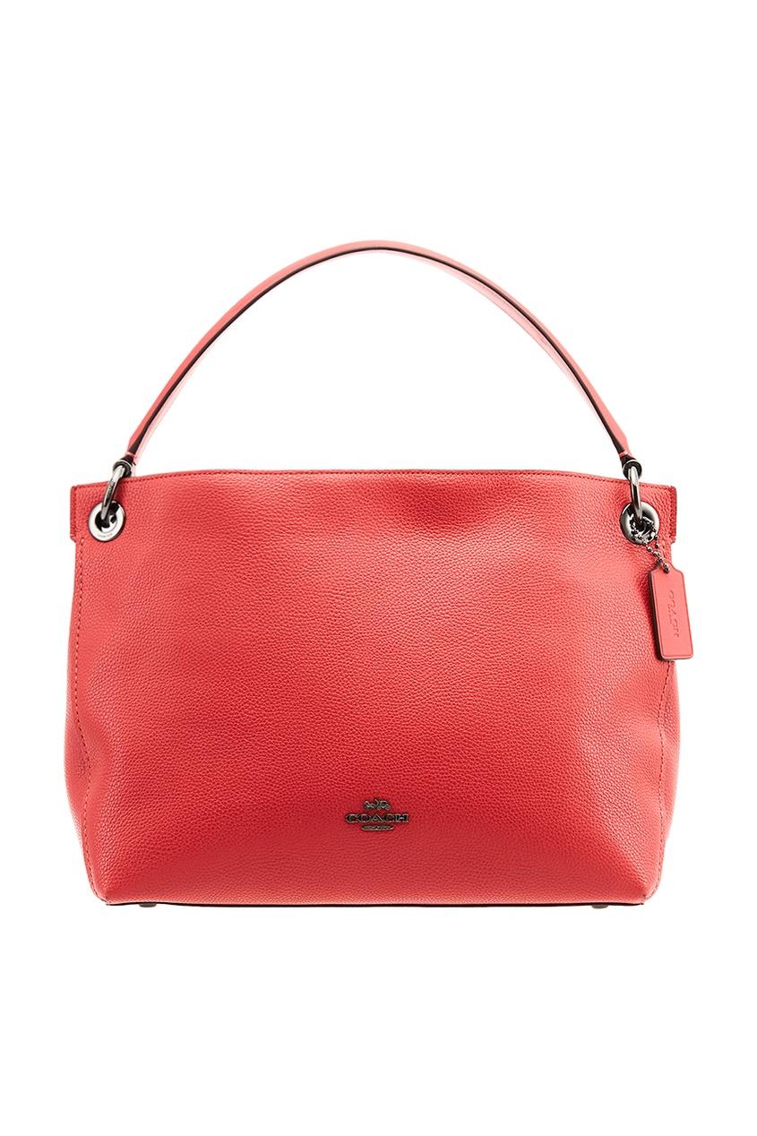 Красная сумка с рельефным логотипом Clarkson Hobo
