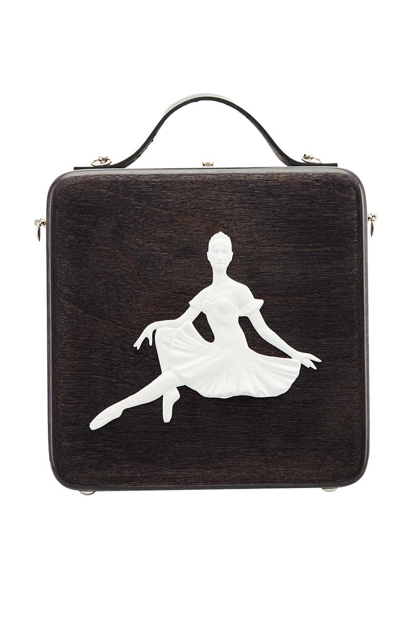 Черная сумка с балериной MyBacio Russian Essentials