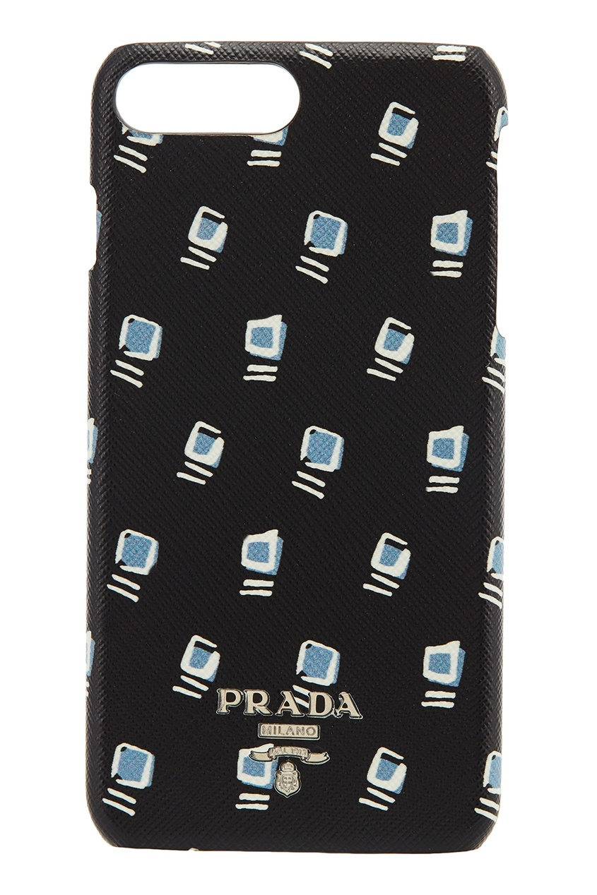 Prada Черный чехол с принтом для iPhone 7Plus/8Plus чехлы для телефонов chocopony чехол для iphone 7plus сердца на бирюзовом 2 арт 7plus 152