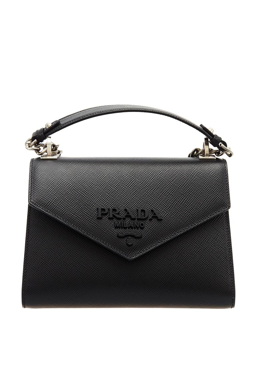 Prada Черная сумка из сафьяновой кожи
