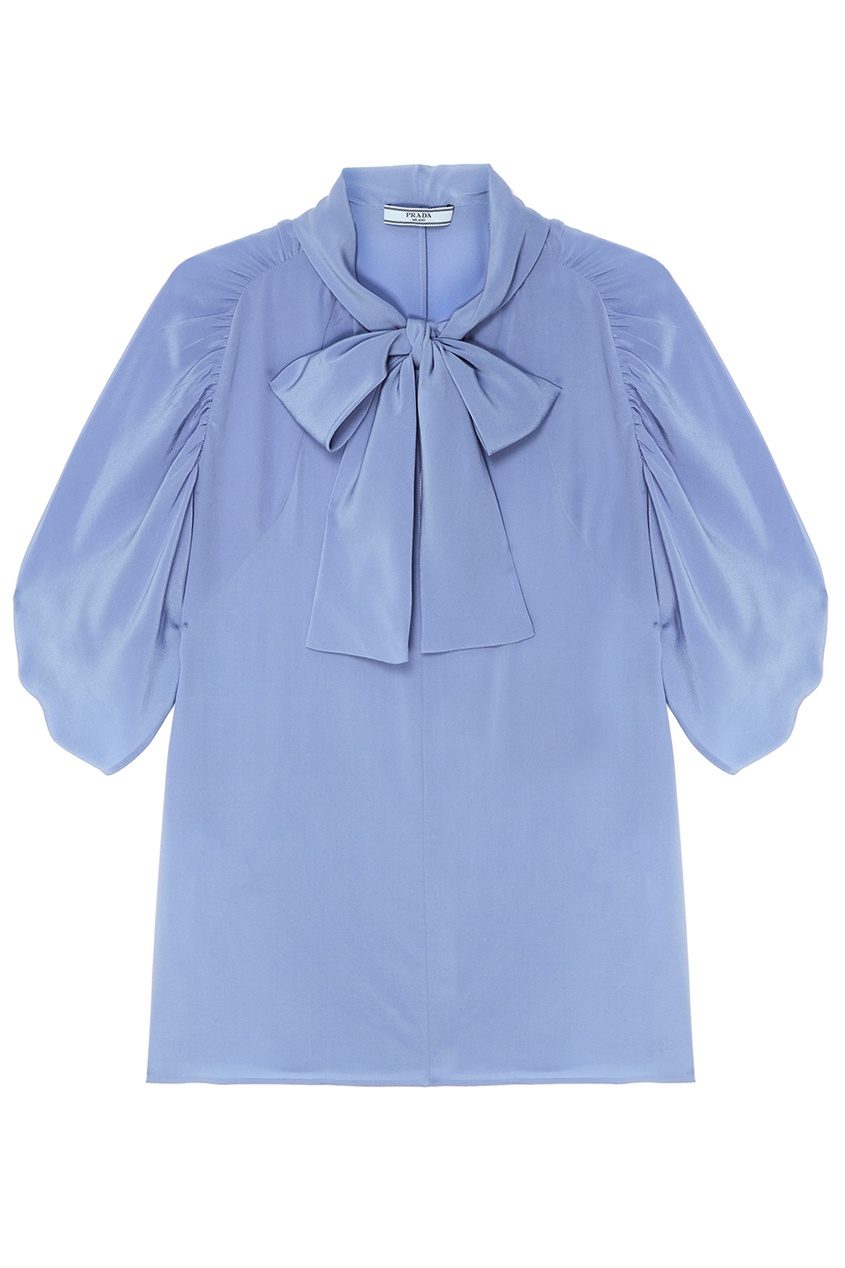 все цены на Prada Голубая блузка с объемными рукавами