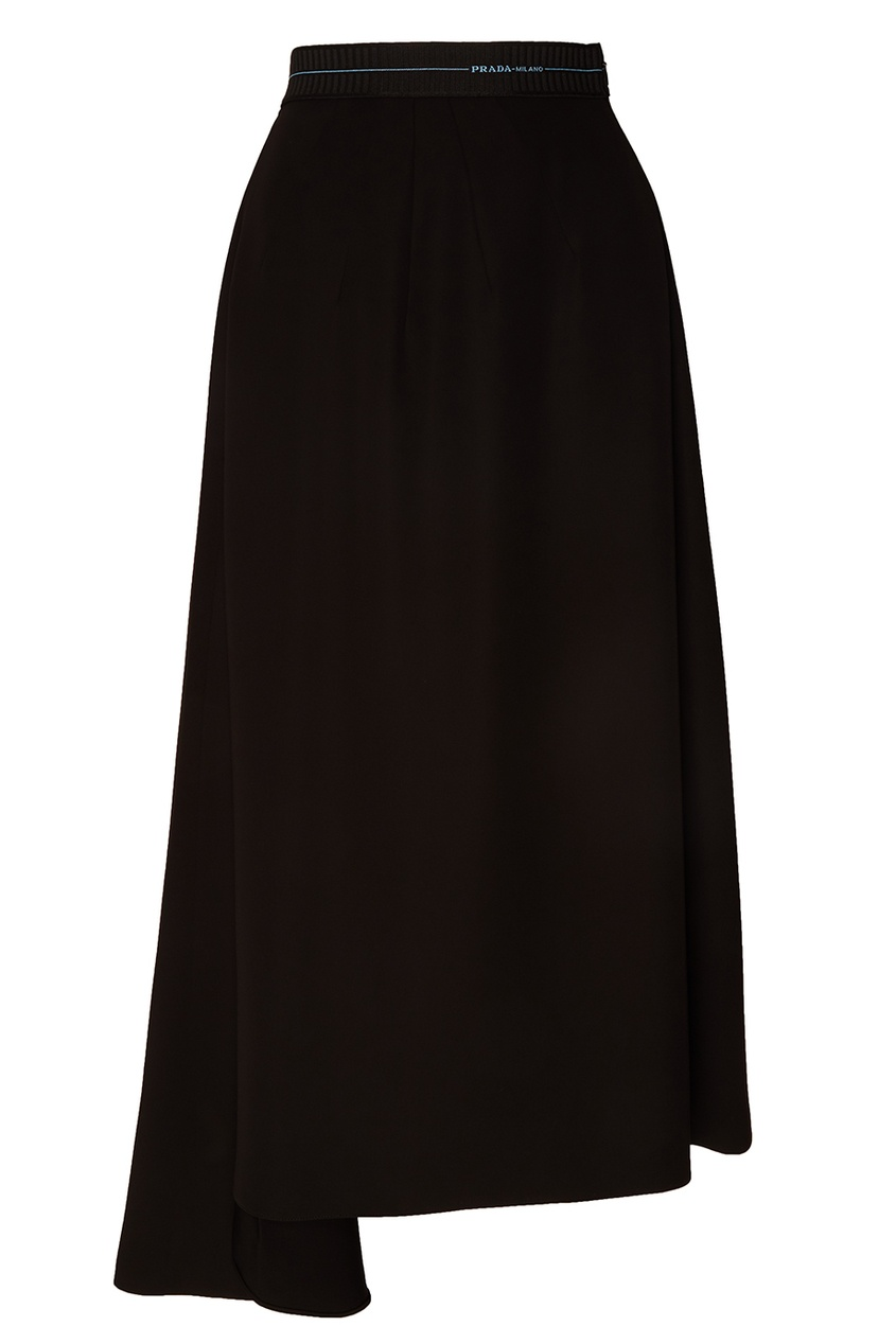 Черная юбка со складками