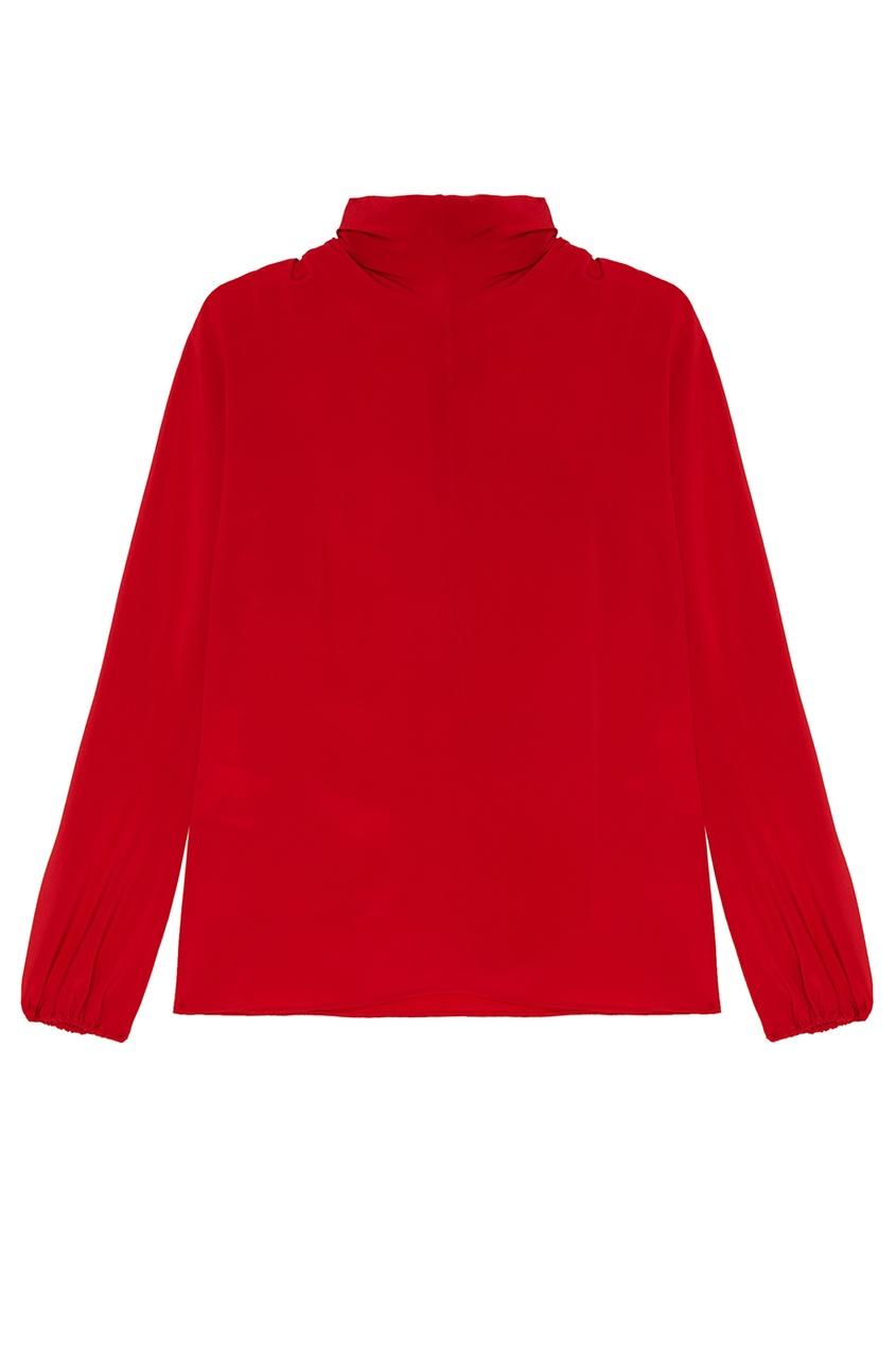 все цены на Prada Красная блузка с драпированным воротником