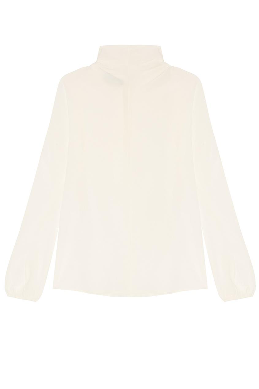 все цены на Prada Белая блузка с драпированным воротником