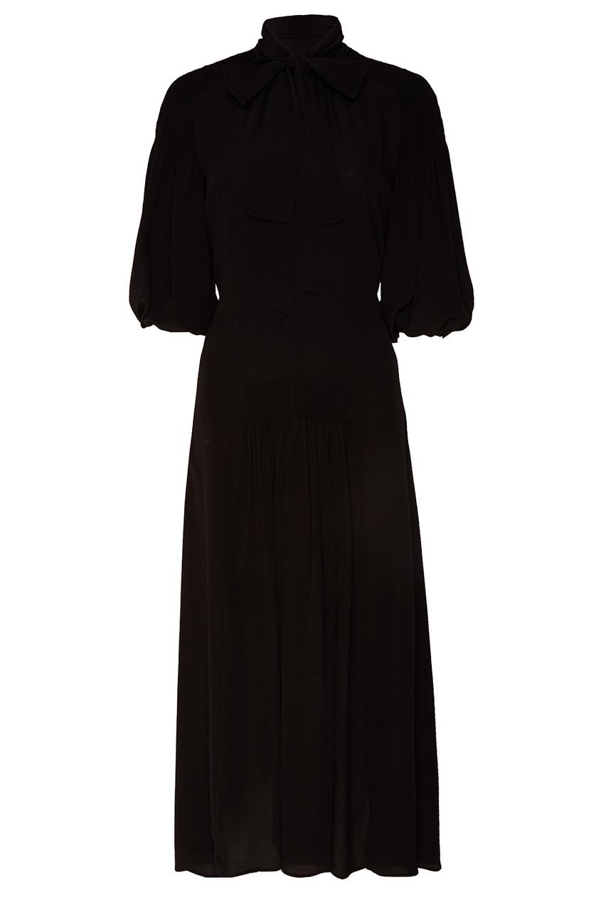 Prada Шелковое платье-макси со складками arthur conan doyle the adventures of gerard isbn 978 5 521 07174 6