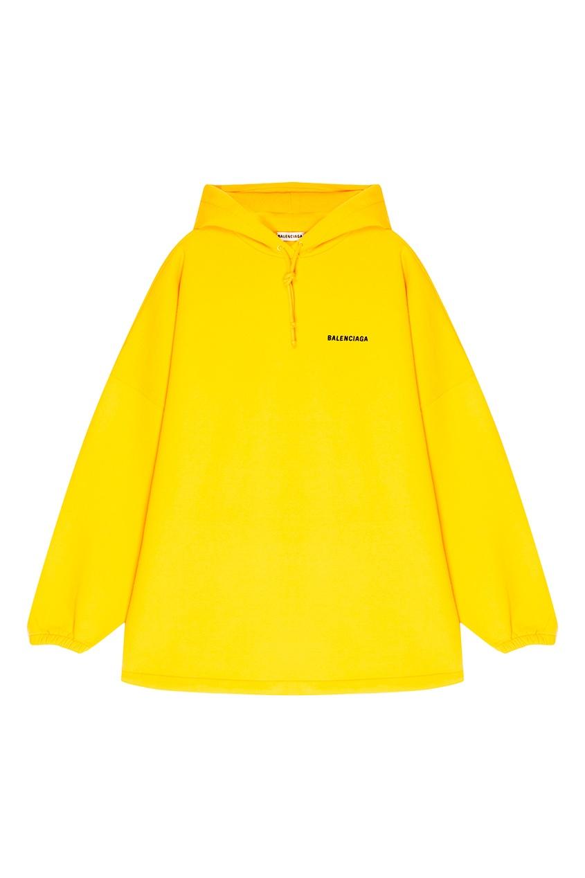 Balenciaga Желтое худи из хлопка