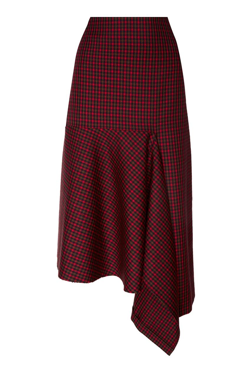 Balenciaga Шерстяная юбка с асимметричной деталью