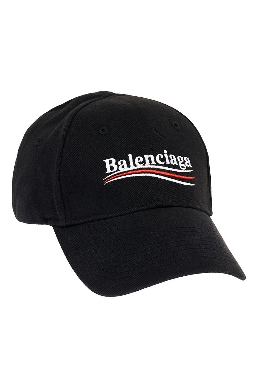 женская кепка balenciaga, черная