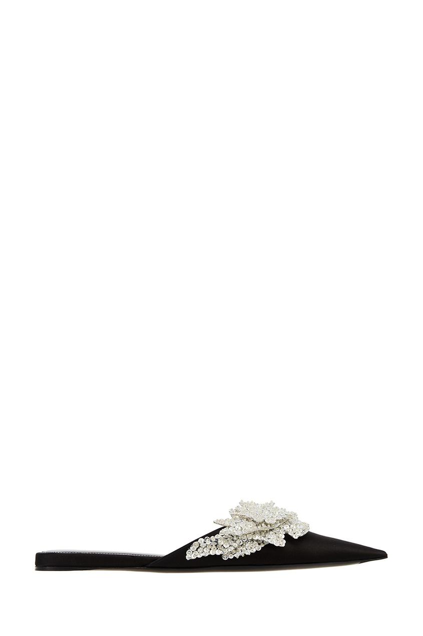 Черные мюли с пайетками Balenciaga