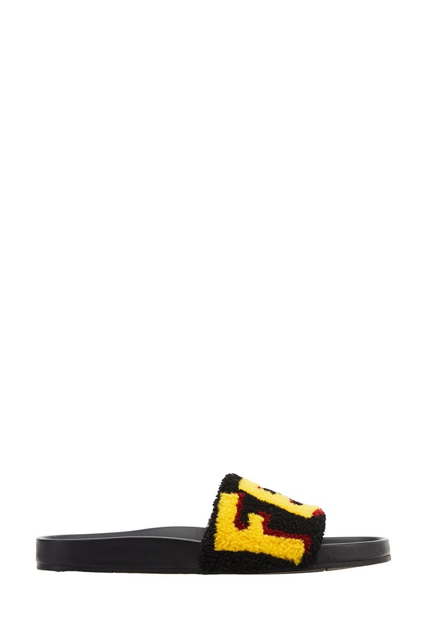 Сандалии с ярким логотипом Fendi