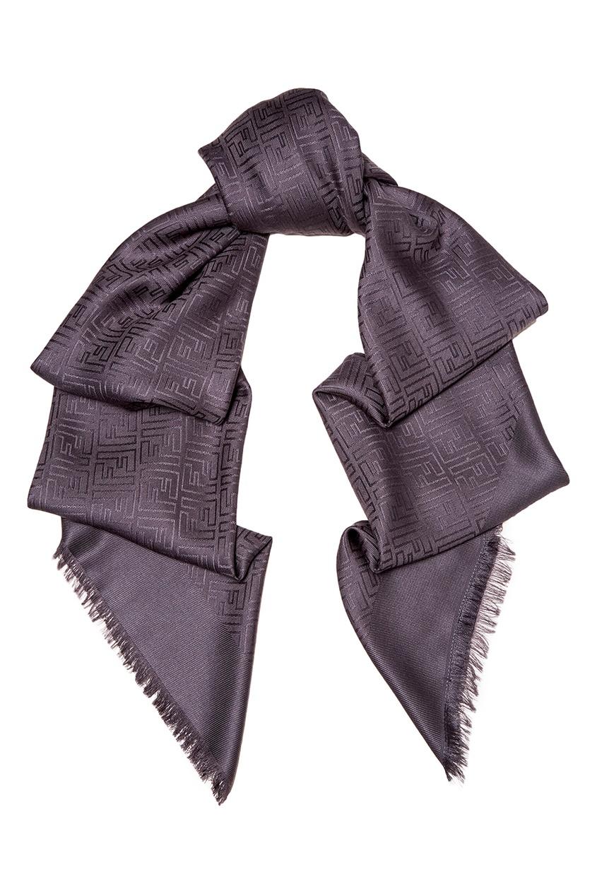 женский платок fendi, серый