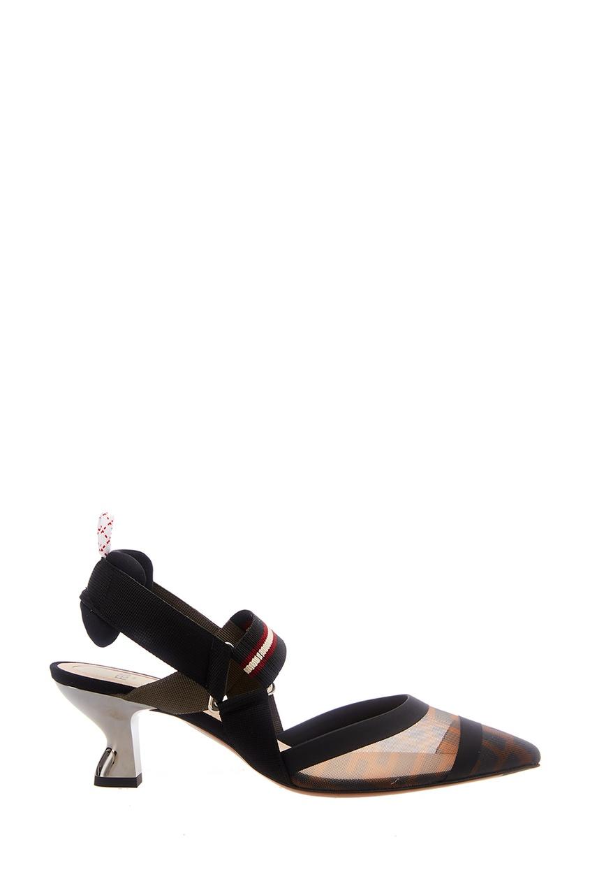 Туфли с сетчатой вставкой