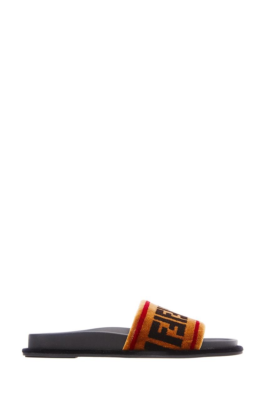 Сандалии с монограммами от Fendi