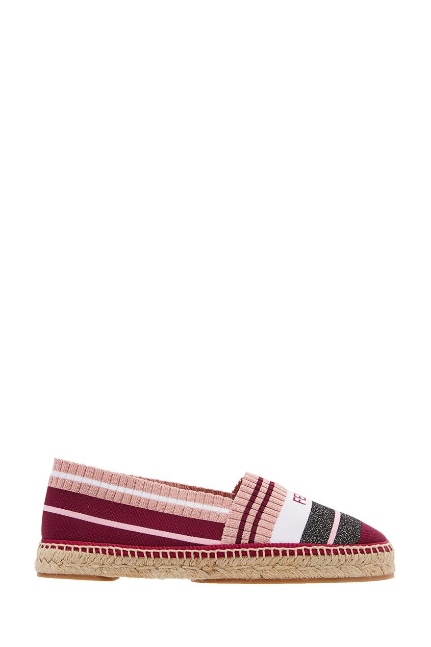 Эспадрильи из розового текстиля