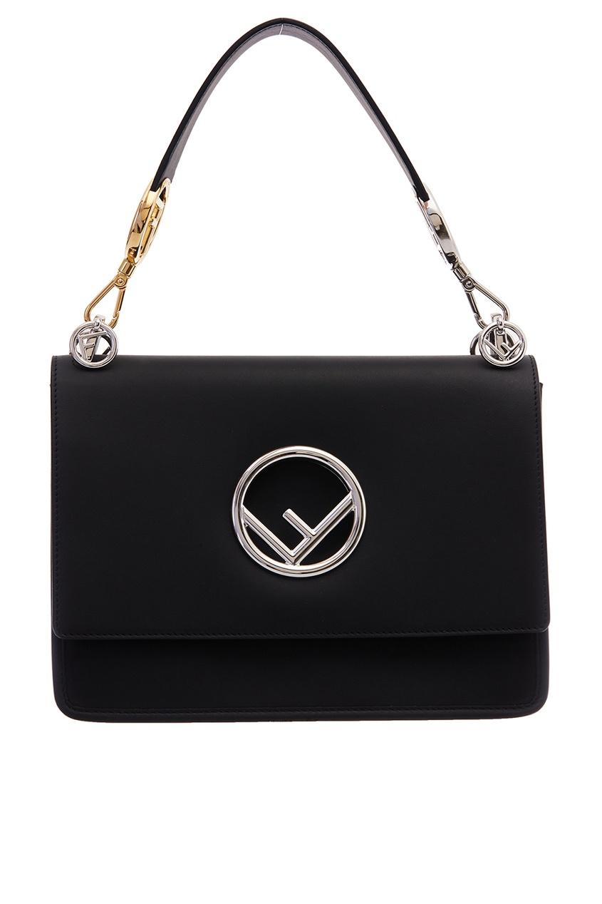 Fendi Черная сумка с монограммой