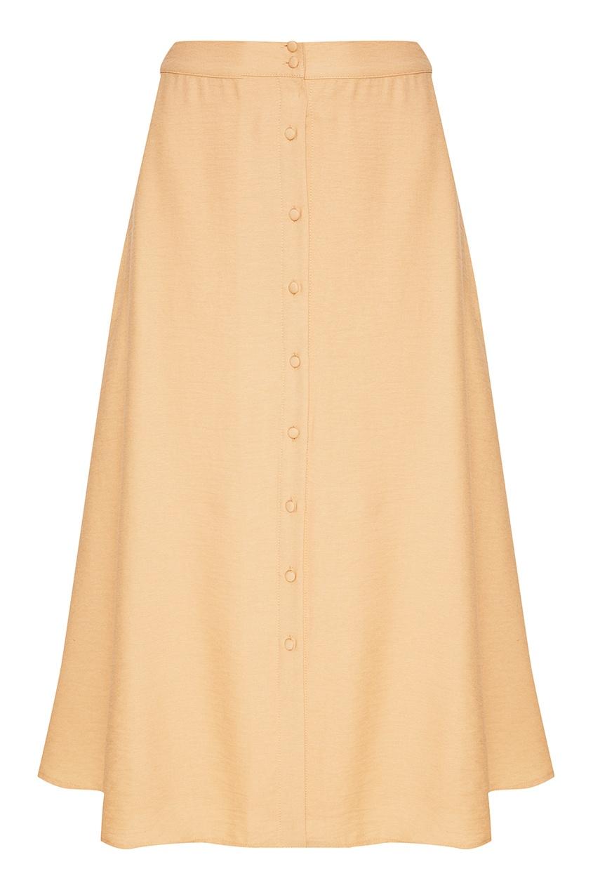 Бежевая юбка из трикотажа