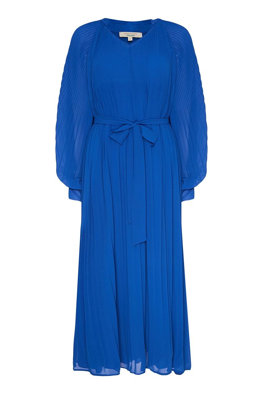 Akhmadullina DREAMS Синее плиссированное платье