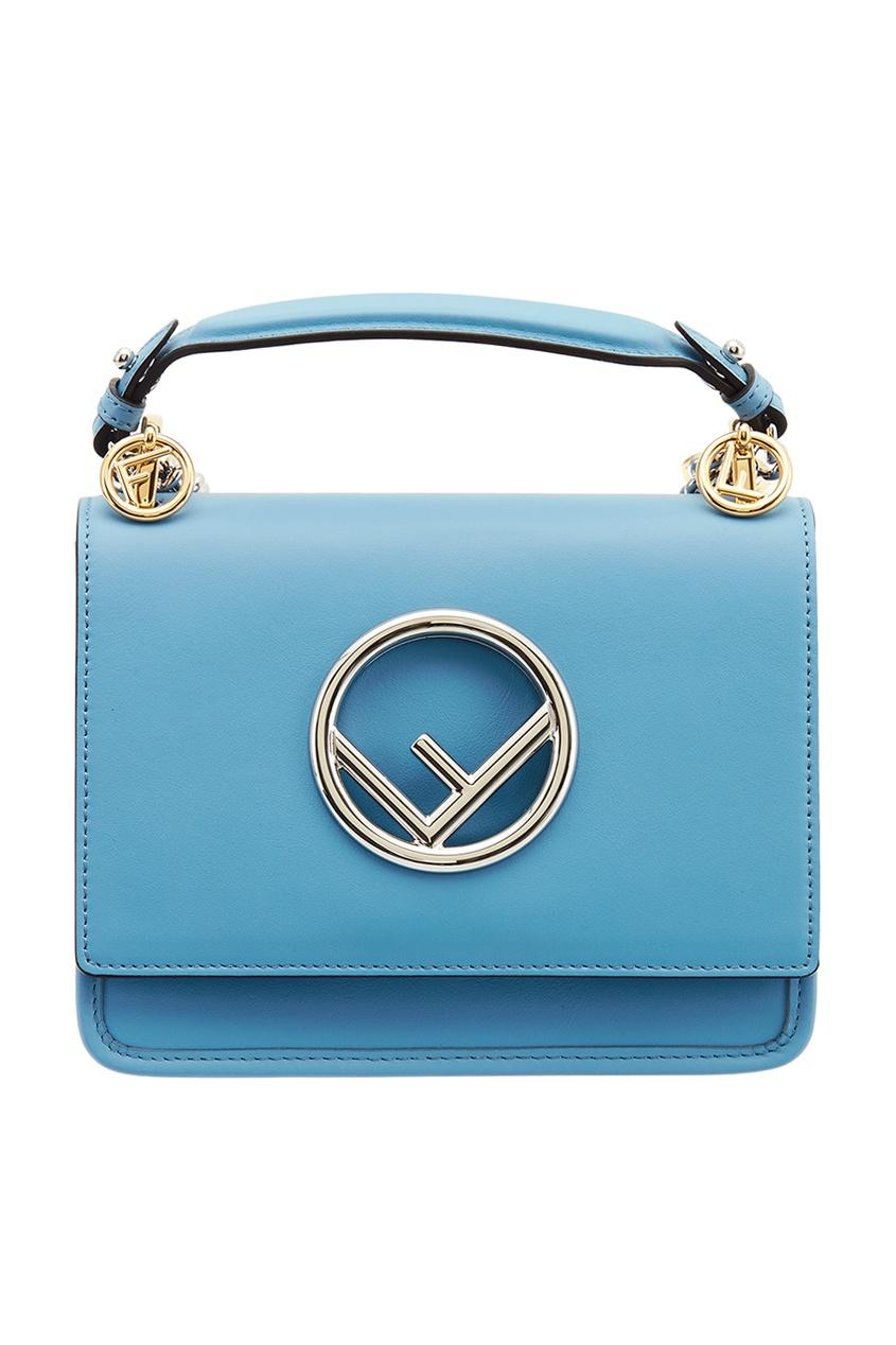 Голубая сумка с логотипом Fendi