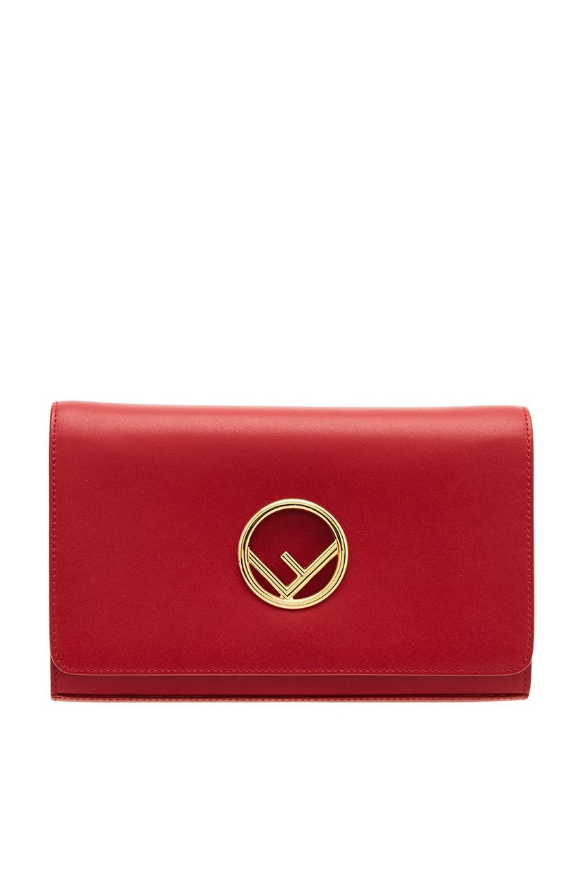 женская сумка fendi, красная
