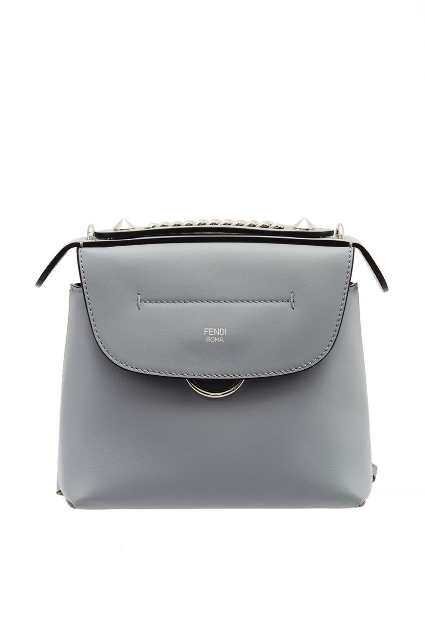 Fendi Голубая сумка из кожи fendi кожаный ремень для сумки
