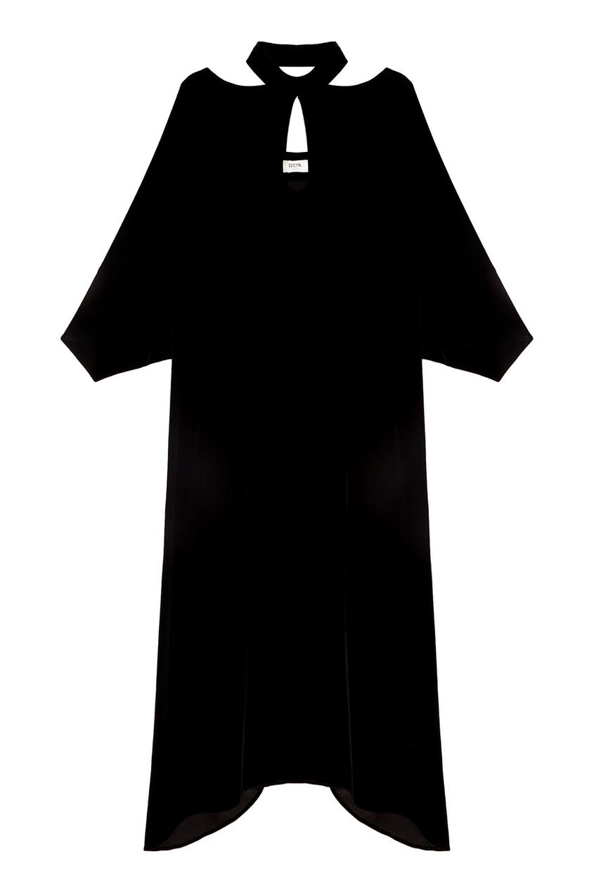 IZETA Черное бархатное платье