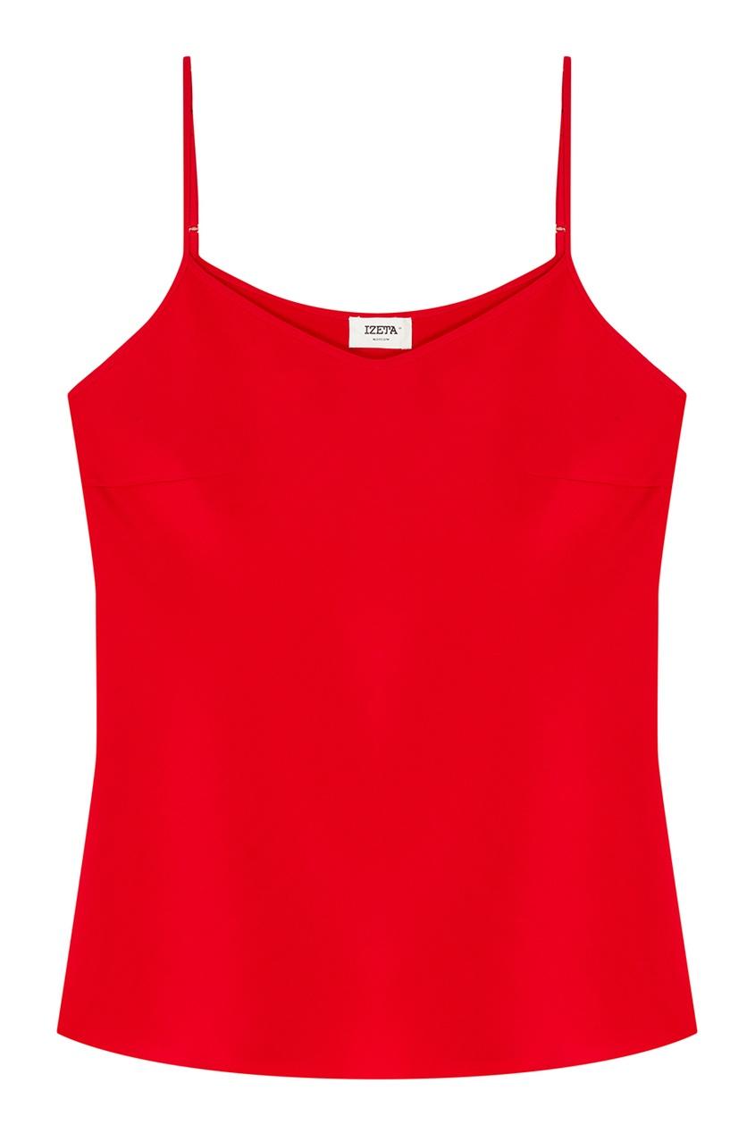 IZETA Шелковый топ красного цвета