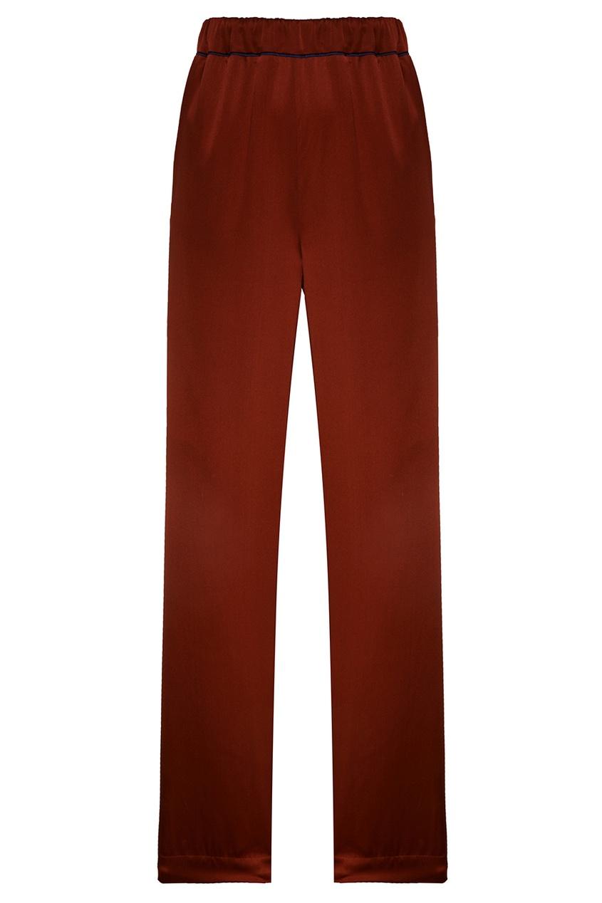 IZETA Шелковые брюки с окантовками