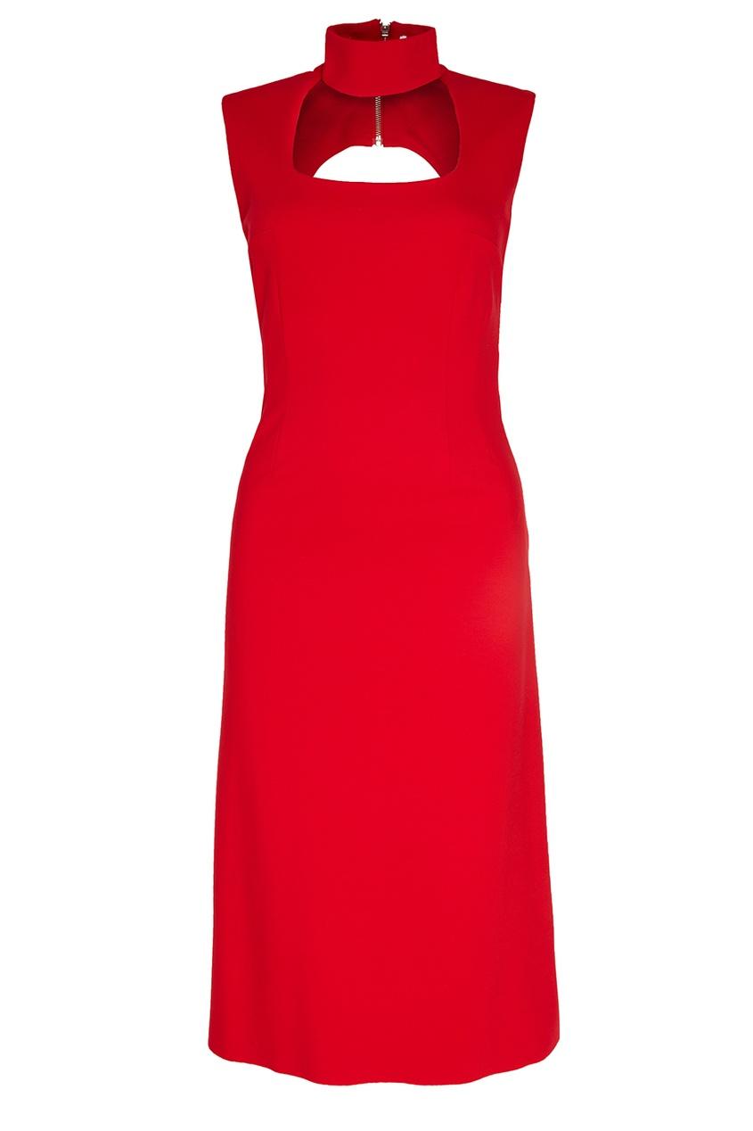 ERMA Красное платье  воротником-стойкой