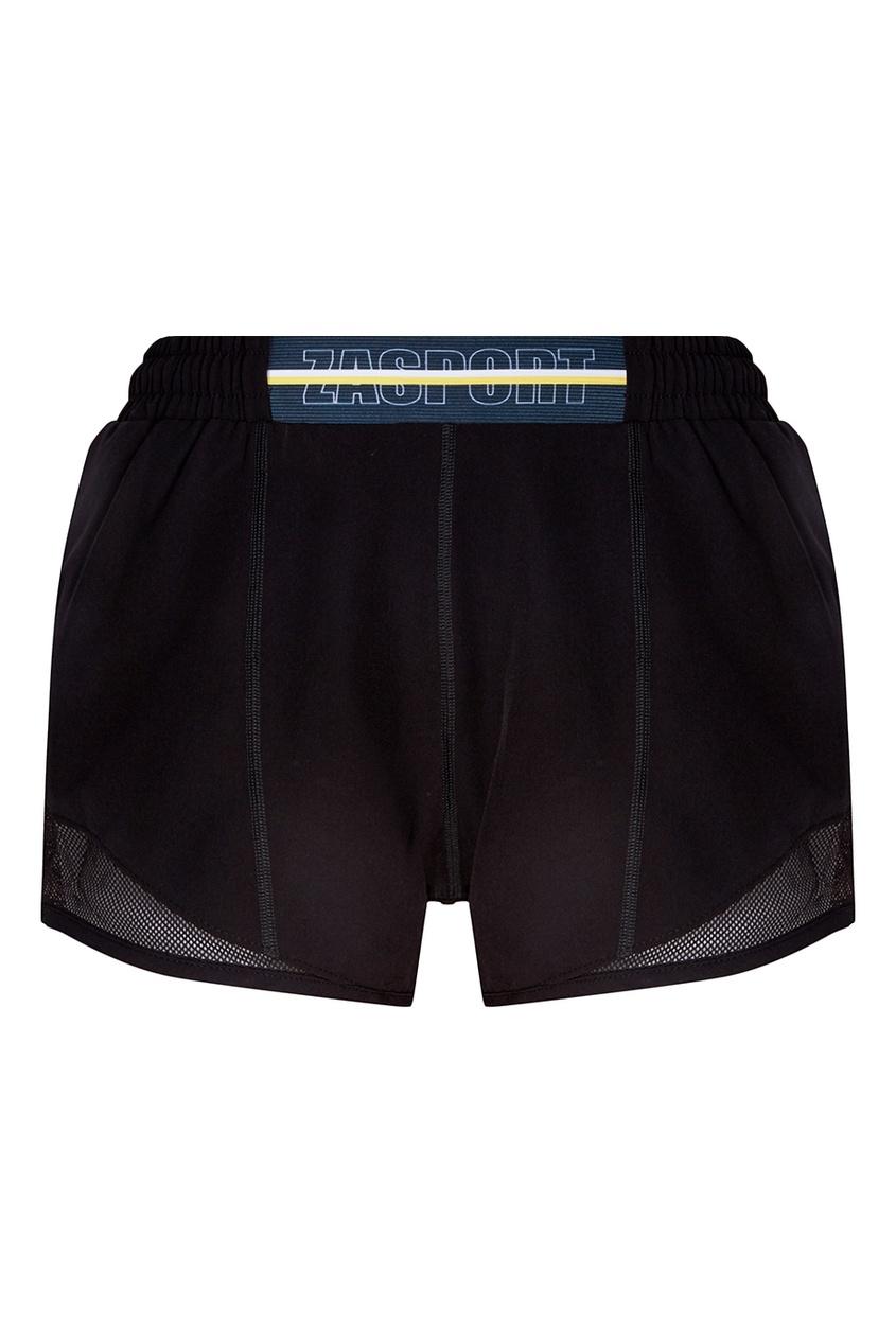 ZASPORT Черные шорты с сеткой