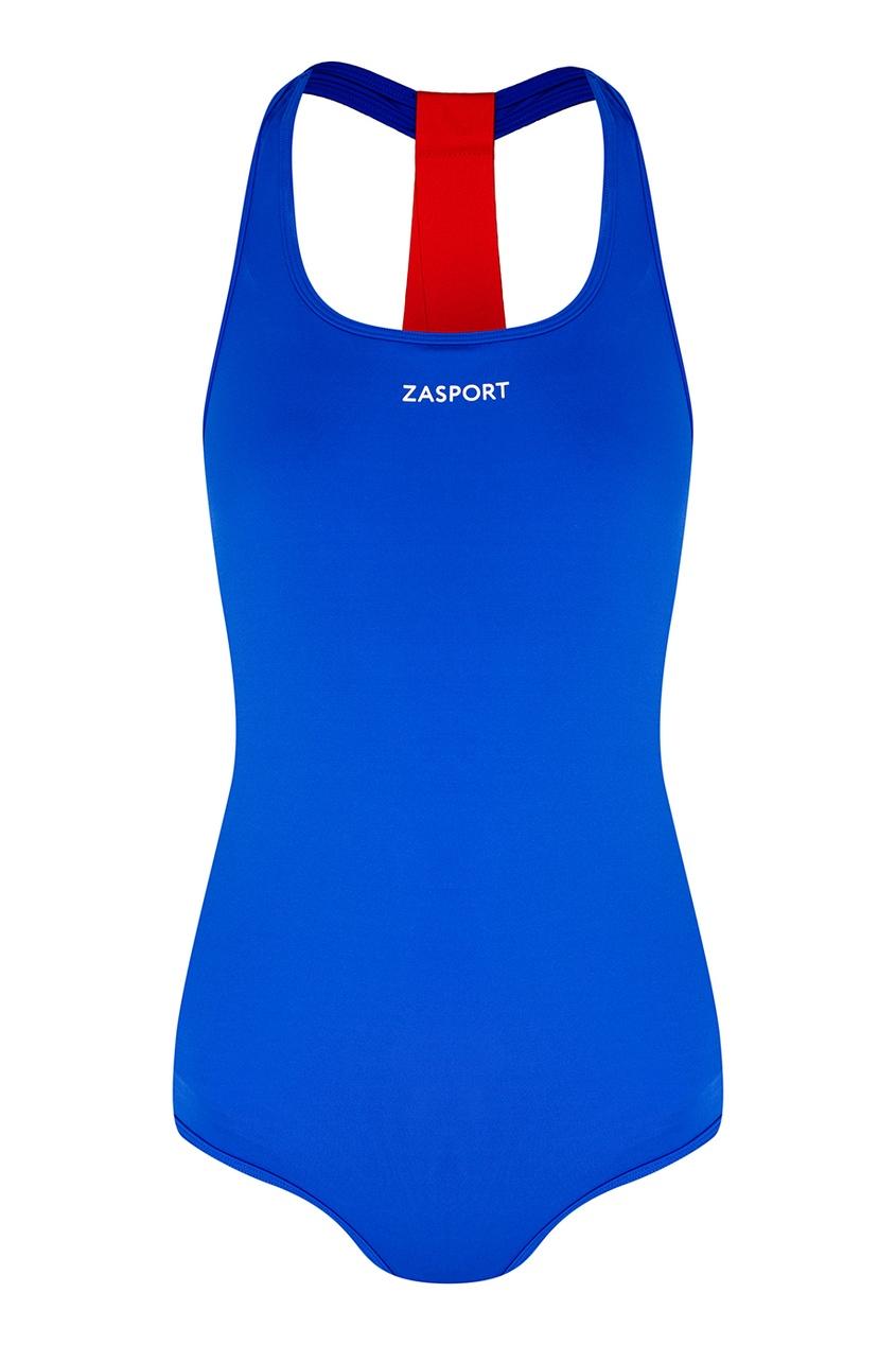 Синий купальник с лентами на спине ZASPORT