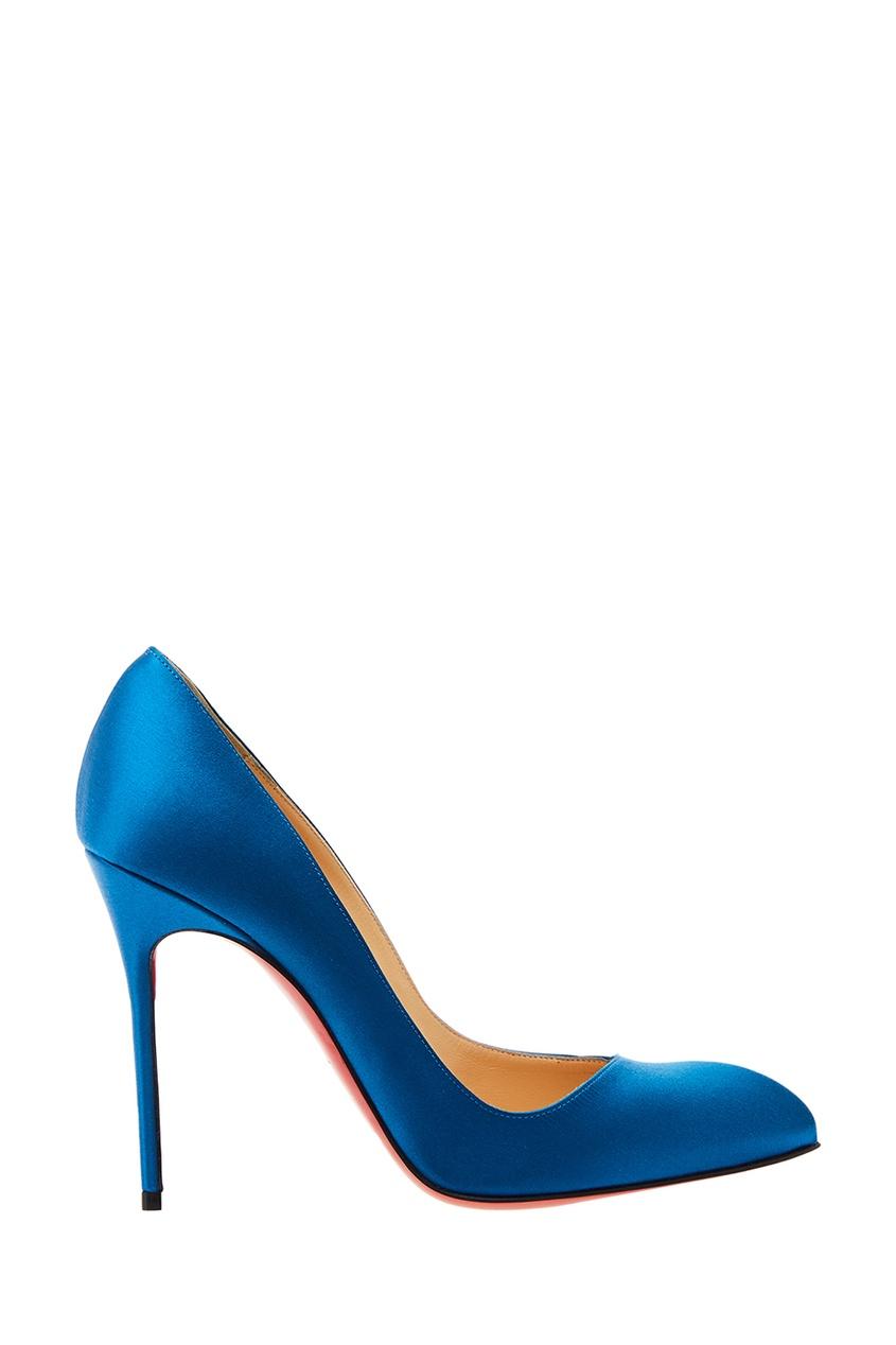 Christian Louboutin Синие туфли шелковой отделкой Corneille 100