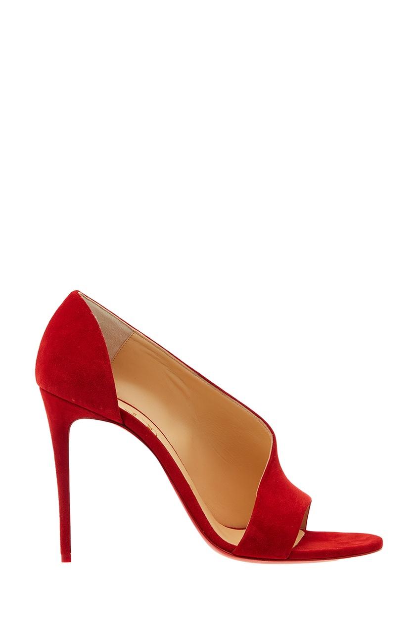 Christian Louboutin Красные замшевые туфли Phoebe 100