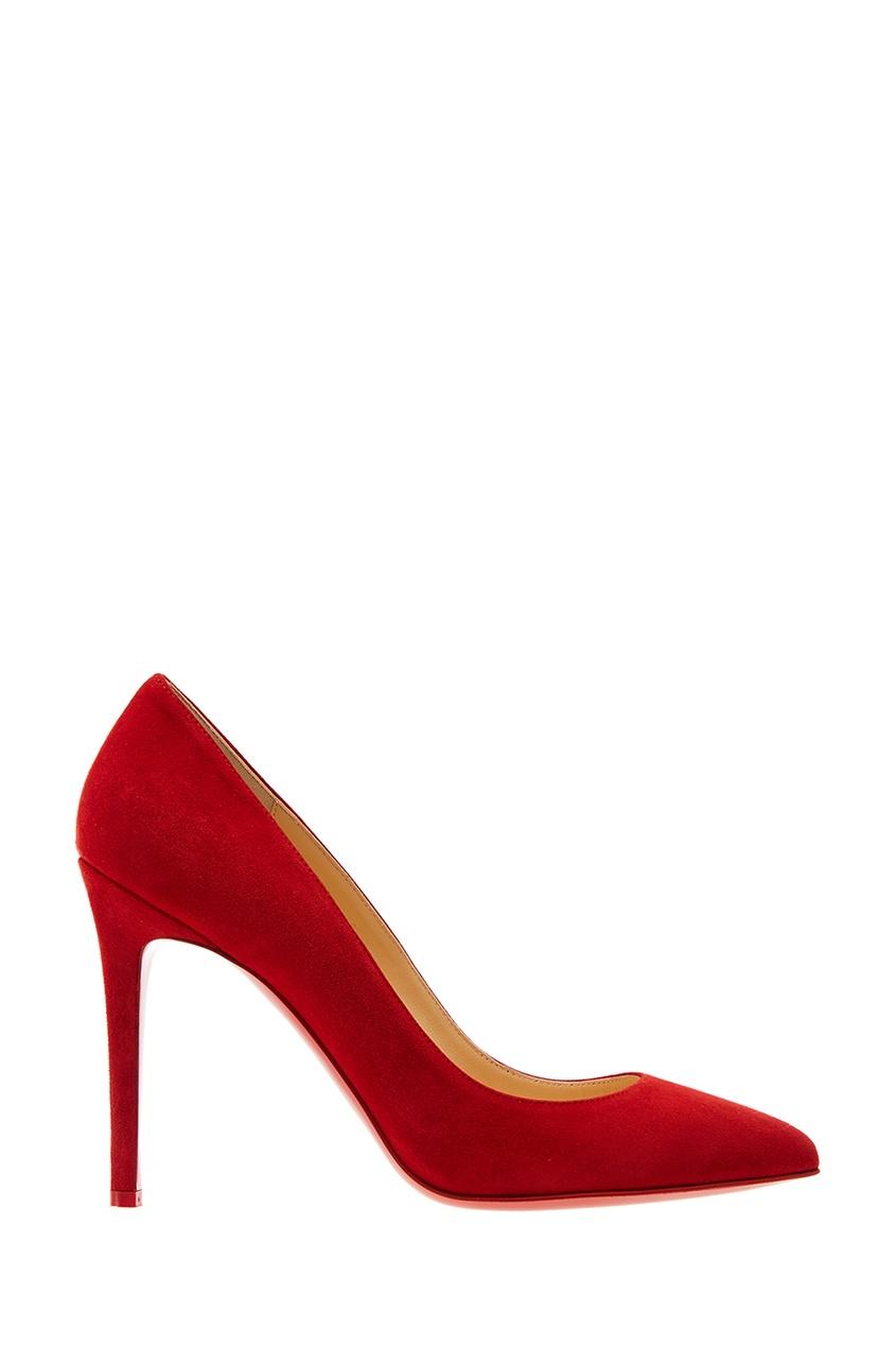 Christian Louboutin Красные замшевые туфли Pigalle 100 christian louboutin замшевые туфли folliescabo 120