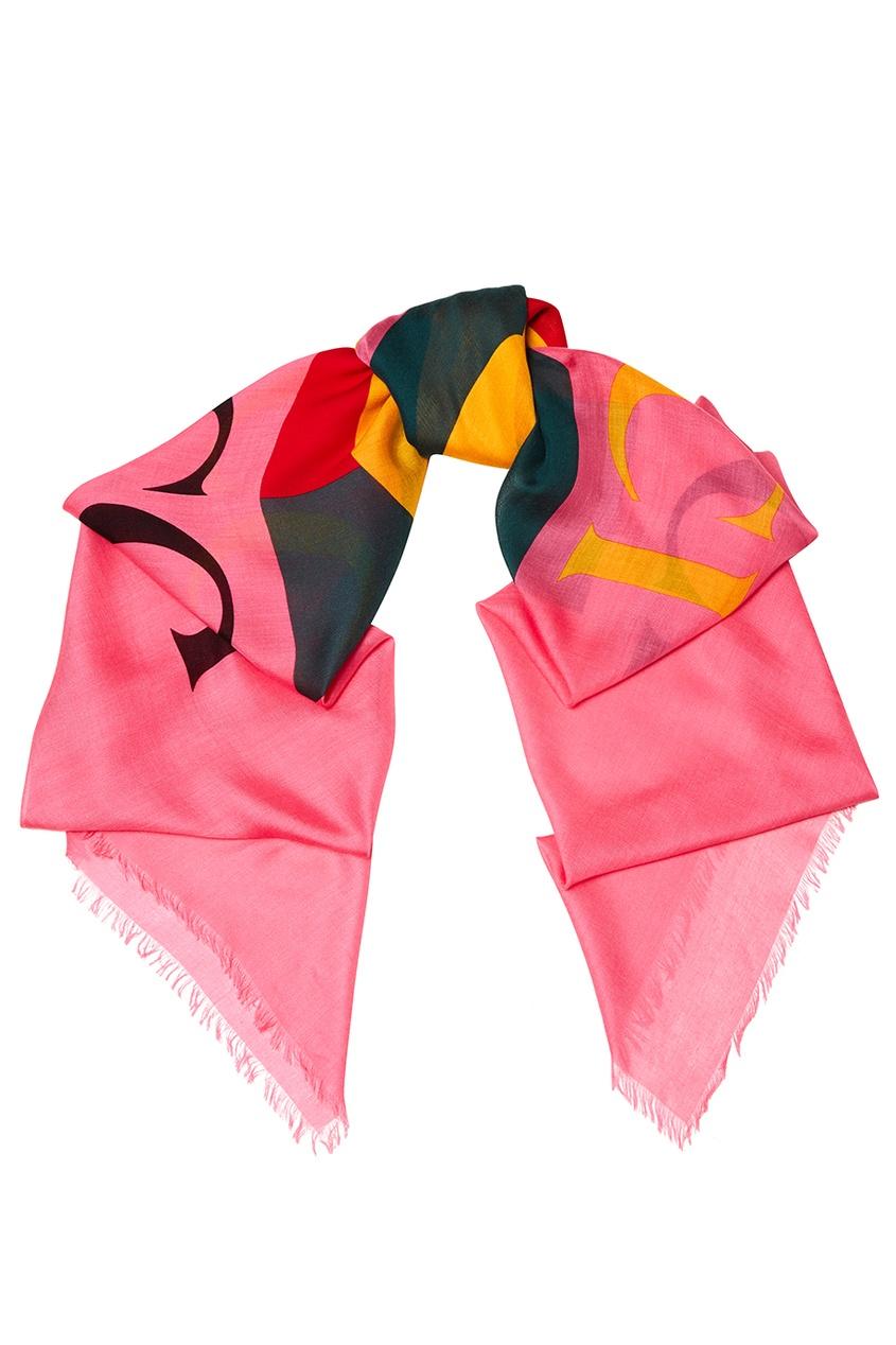 Розовый шарф с логотипом